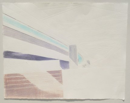 """From the series """"meine kapsel"""", 2012, 29 x 38 cm, coloured stamping on paper"""